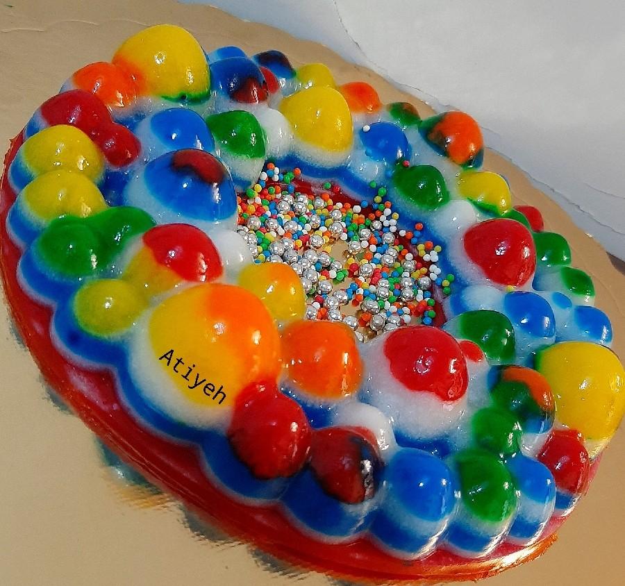 عکس ژله رنگین کمان حبابی