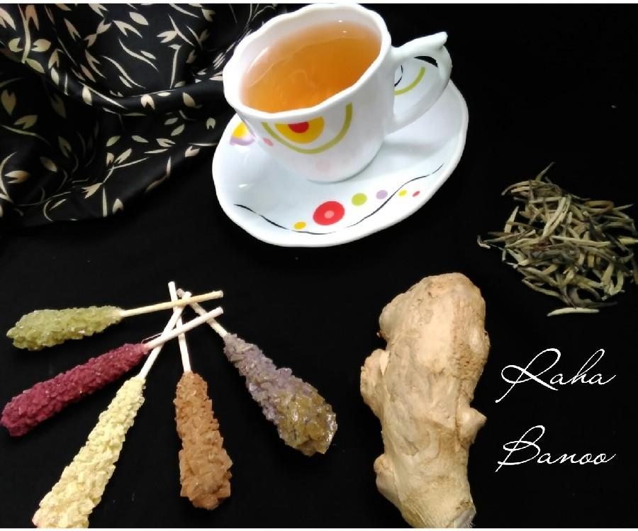 عکس دمنوش چای سفید و زنجبیل