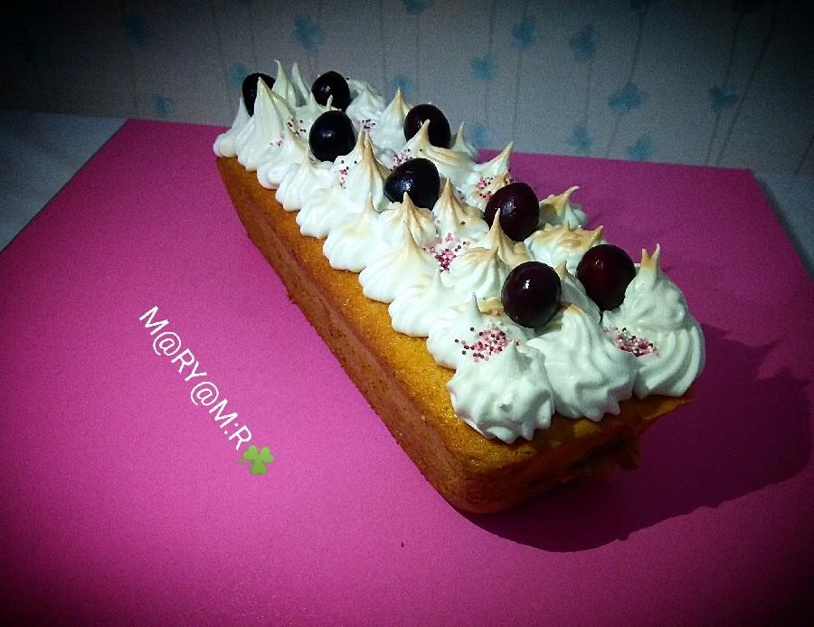 عکس کیک مرنگ میوه ای