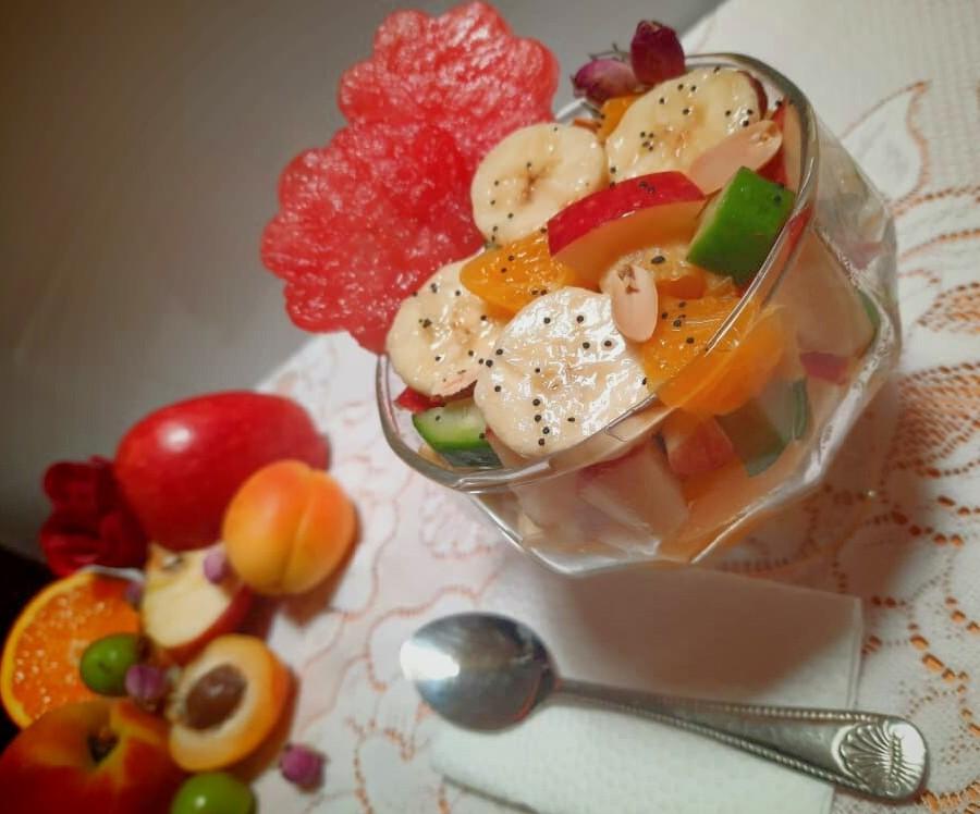 عکس سالاد میوه بهاری