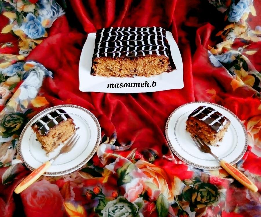عکس کیک خرمالو و کدو حلوایی