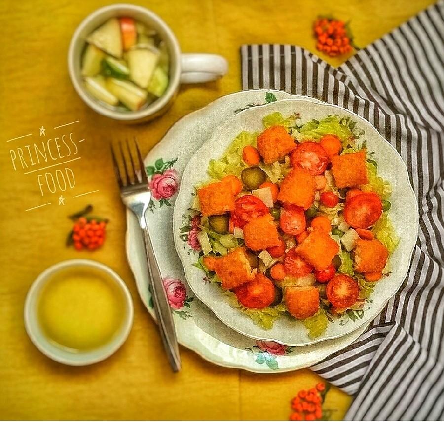 عکس سالاد ماهی و سبزیجات