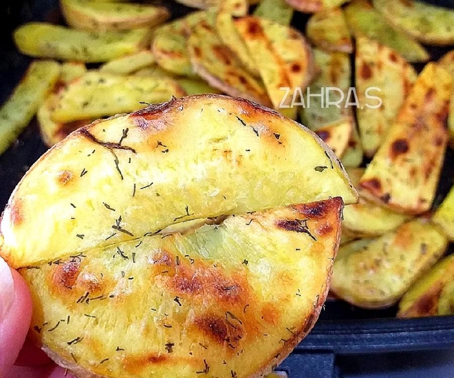 عکس سیب زمینی کبابی در تابه رژیمی