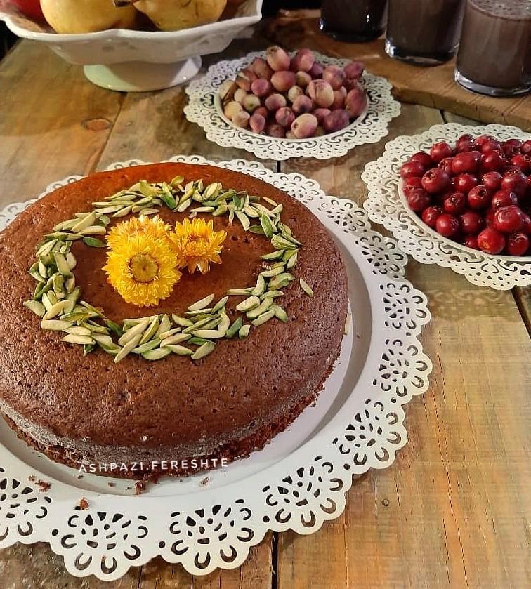 عکس کیک شیره رژیمی