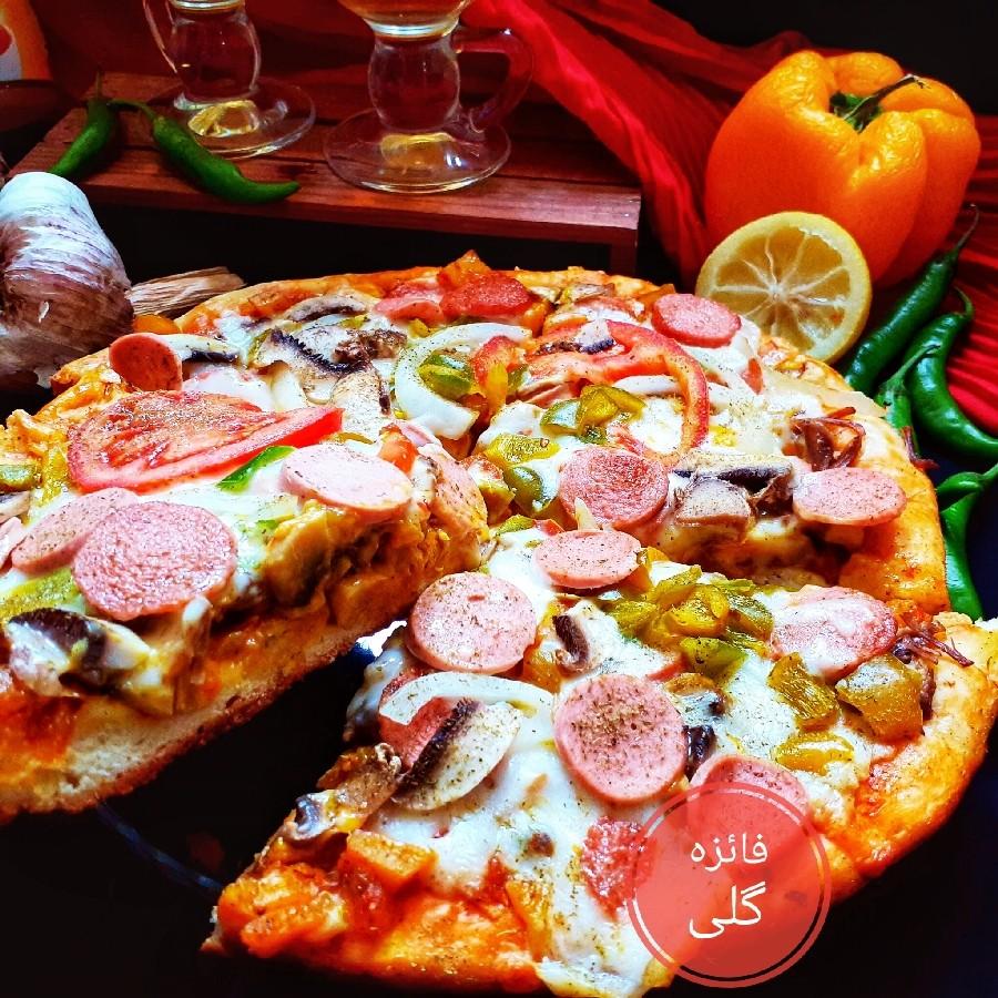 عکس پیتزا بدون �ر و بدون خمیرمایه