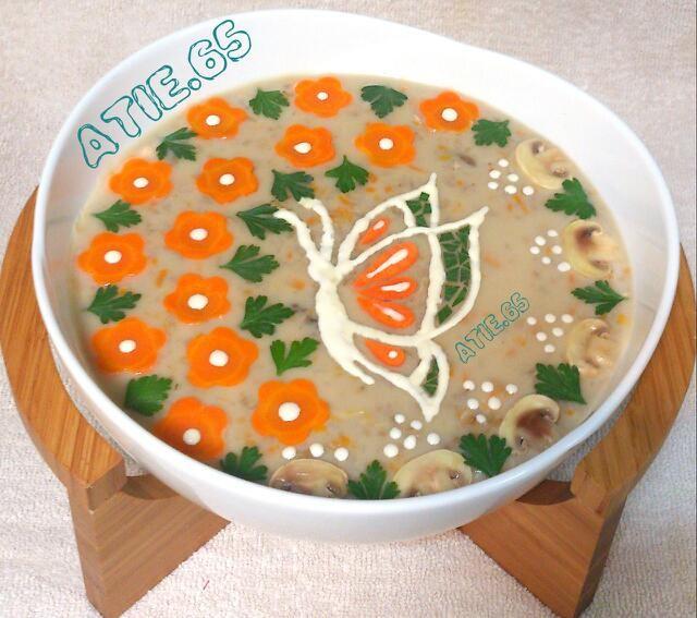 عکس سوپ جو با شیر
