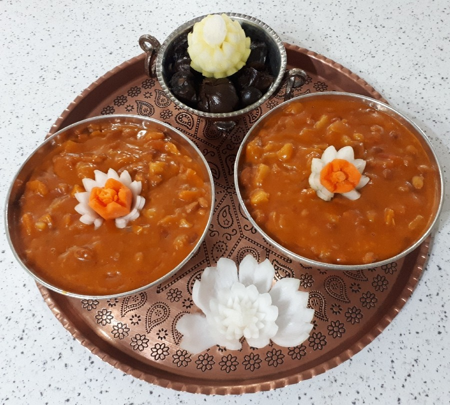عکس خوراک لوبیا چیتی گیاهی
