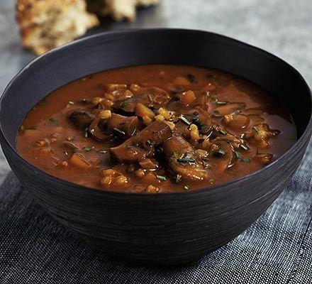 عکس سوپ قارچ و سبزیجات