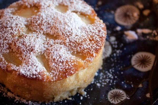 عکس کیک سیب