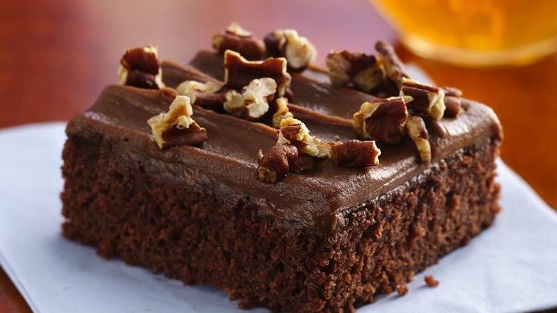 عکس کیک خیس شکلاتی