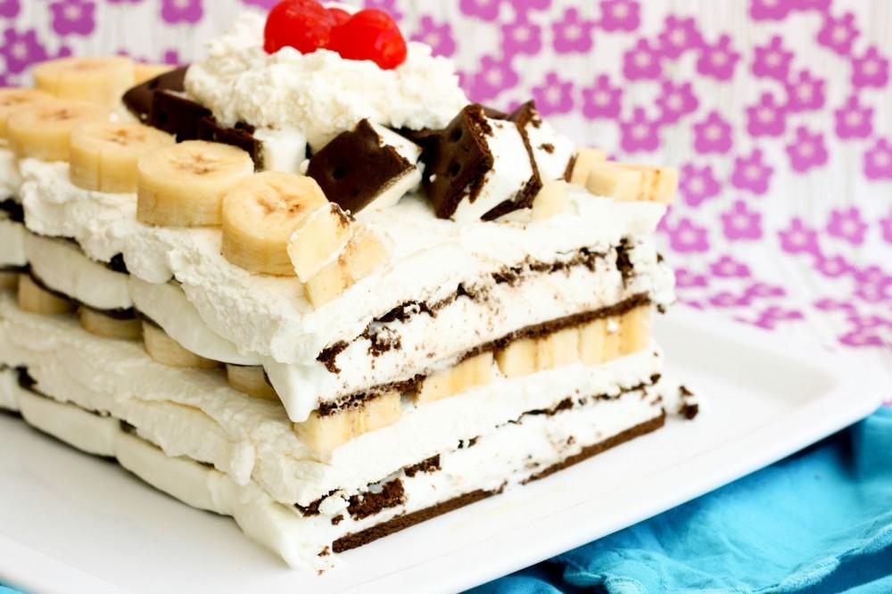 عکس کیک بستنی موزی
