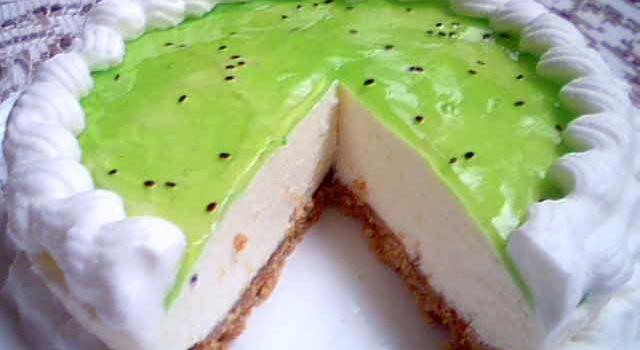 عکس چیز کیک کیوی
