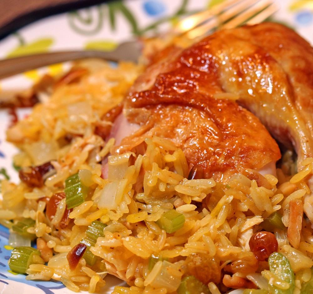 عکس کشمش پلو با مرغ