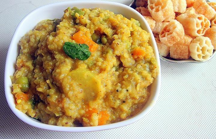 عکس پوره برنج و سبزیجات هندی