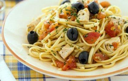 عکس اسپاگتی با ماهی