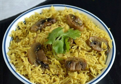 عکس قارچ پلو (هندی)