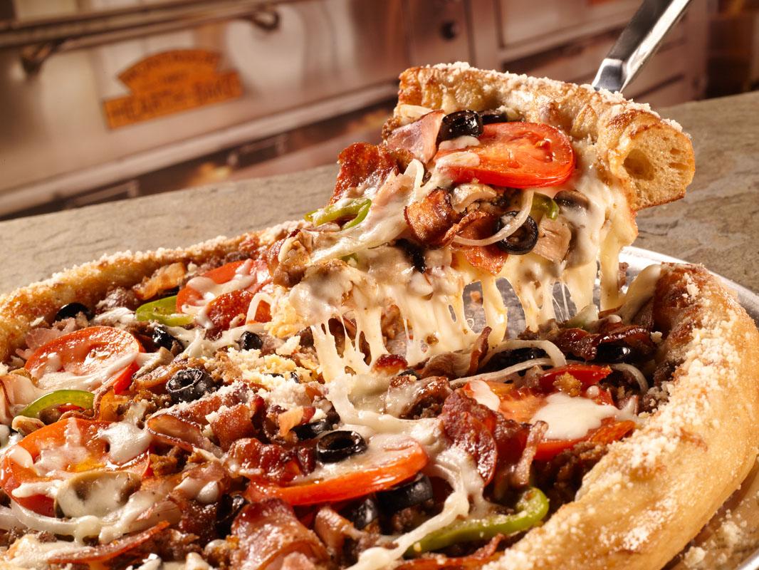 عکس پیتزا قارچ