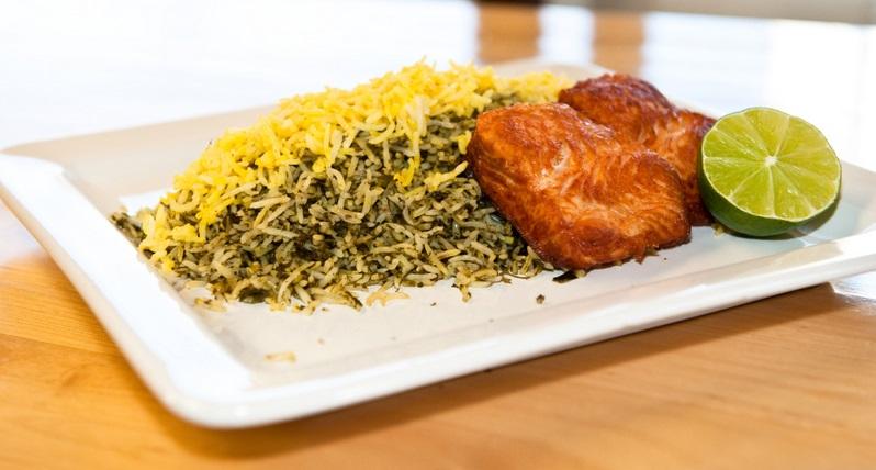 عکس سبزی پلو با ماهی