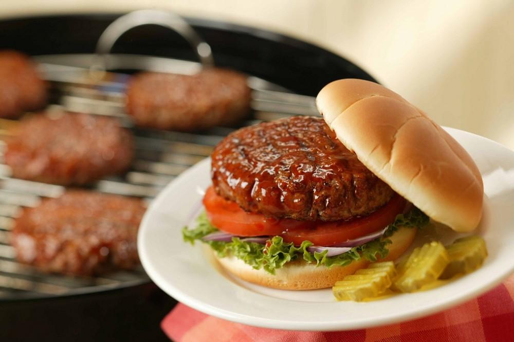 عکس همبرگر گوشت و سویا