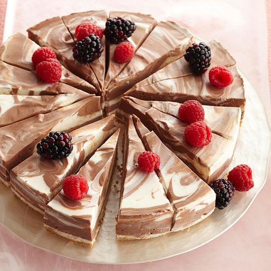 عکس چیز کیک شکلاتی نپختنی