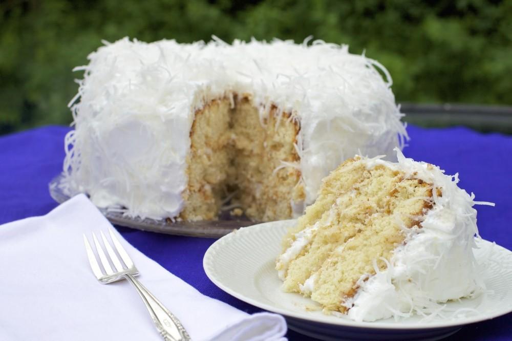 عکس کیک نارگیلی