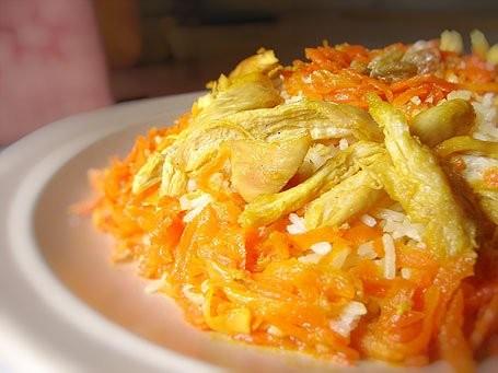 عکس هویج پلو با مرغ