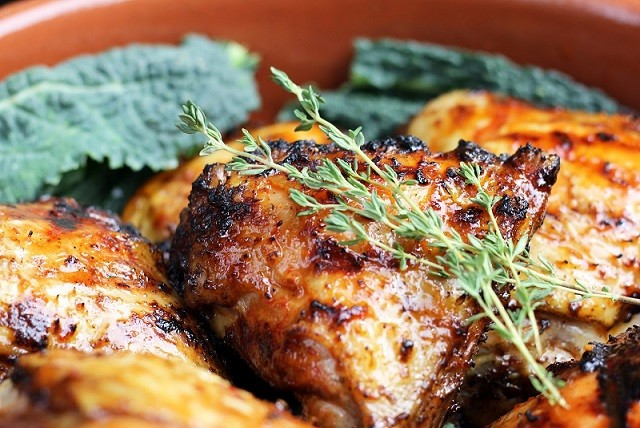 عکس کباب مرغ چوبی