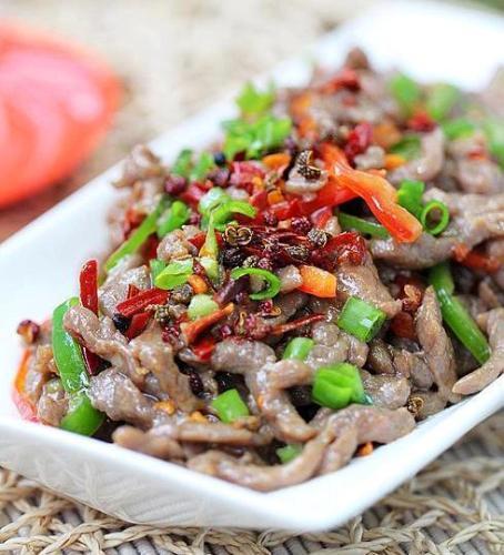 عکس خوراک گوشت و فلفل