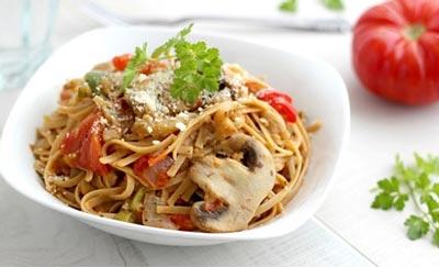 عکس اسپاگتی سبزیجات